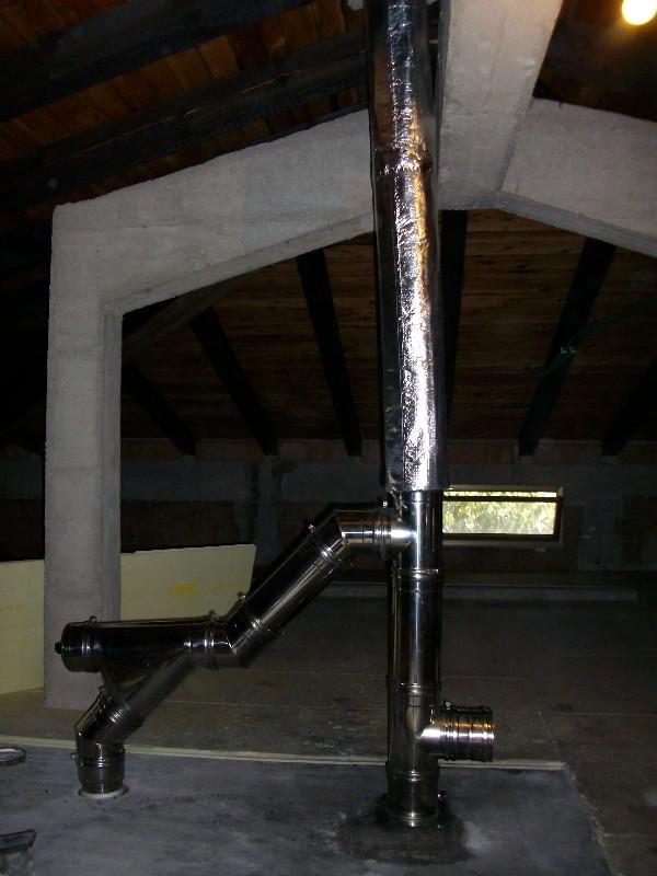 Deltafuoco di venica mauro spolerts caminetti termocaminetti cucine in muratura cucine e - Canna fumaria esterna per stufa a legna ...