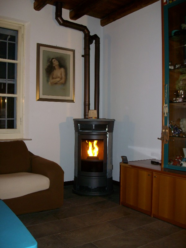 Deltafuoco di venica mauro spolerts caminetti termocaminetti cucine in muratura cucine e - Stufa a pellet aria canalizzata ...